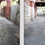 Fix ugly old driveway strips